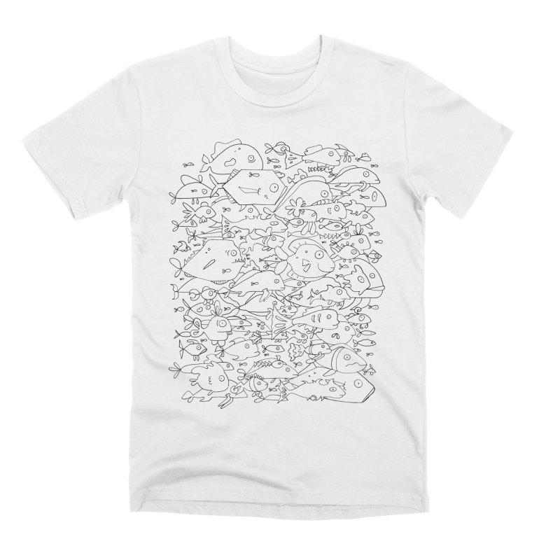Funky Fish School Men's T-Shirt by Legend Studio Shop