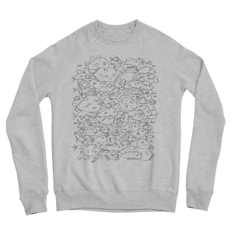Funky Fish School Men's Sponge Fleece Sweatshirt by Legend Studio Shop