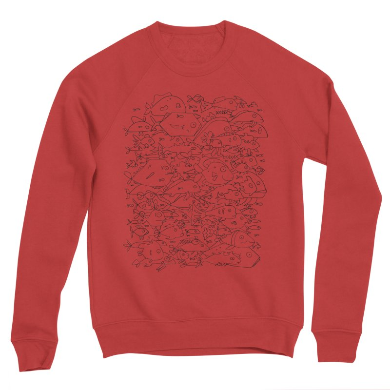 Funky Fish School Women's Sponge Fleece Sweatshirt by Legend Studio Shop