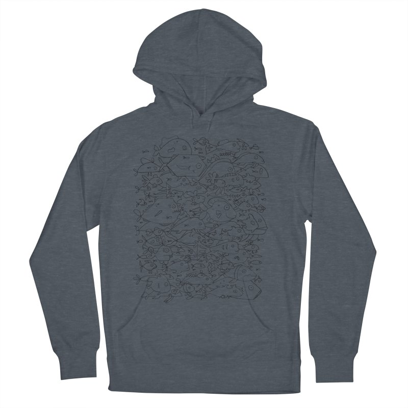 Funky Fish School Men's French Terry Pullover Hoody by Legend Studio Shop