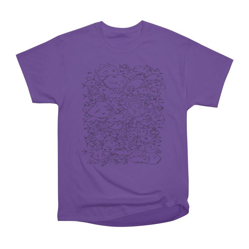 Funky Fish School Women's Heavyweight Unisex T-Shirt by Legend Studio Shop