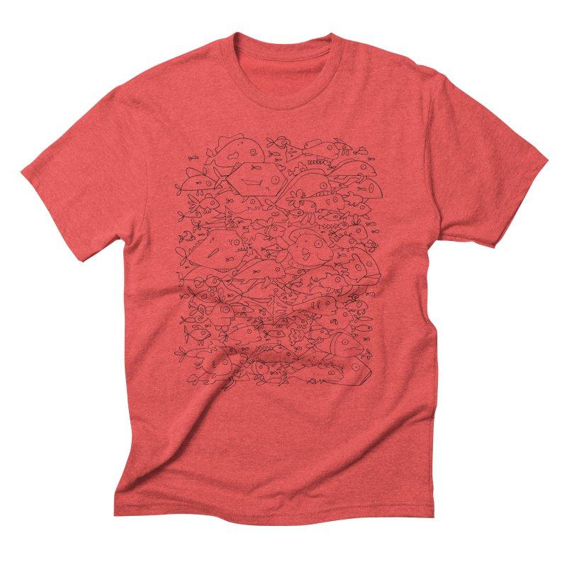 Funky Fish School Men's Triblend T-Shirt by Legend Studio Shop
