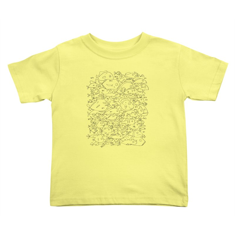 Funky Fish School Kids Toddler T-Shirt by Legend Studio Shop