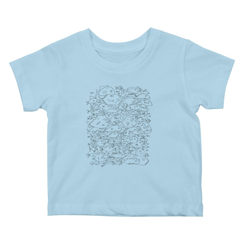 Funky Fish School Kids Baby T-Shirt by Legend Studio Shop