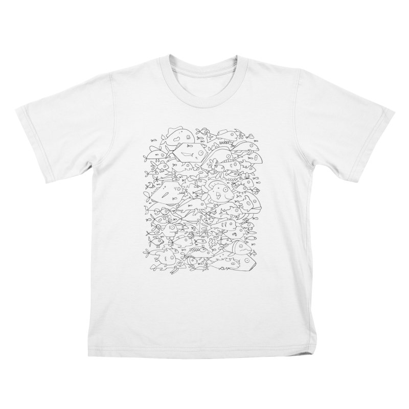 Funky Fish School Kids T-Shirt by Legend Studio Shop