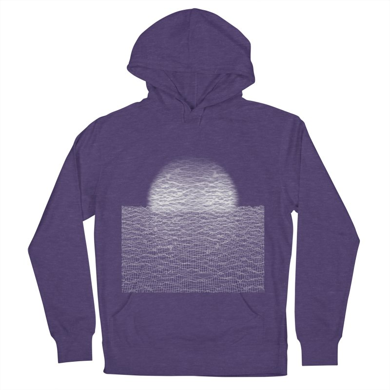 Cyber Ocean Women's French Terry Pullover Hoody by LEMATWORKS Shop