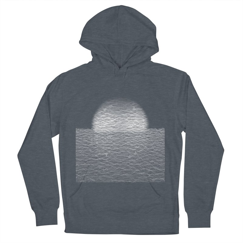 Cyber Ocean Men's French Terry Pullover Hoody by LEMATWORKS Shop