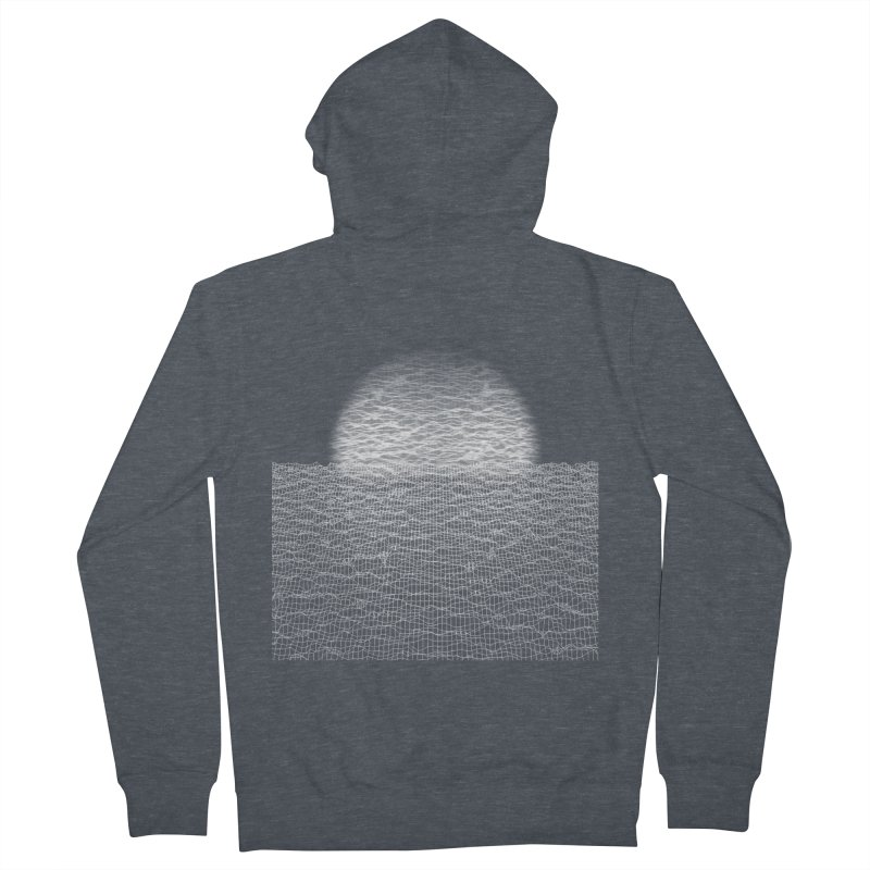 Cyber Ocean Men's French Terry Zip-Up Hoody by LEMATWORKS Shop