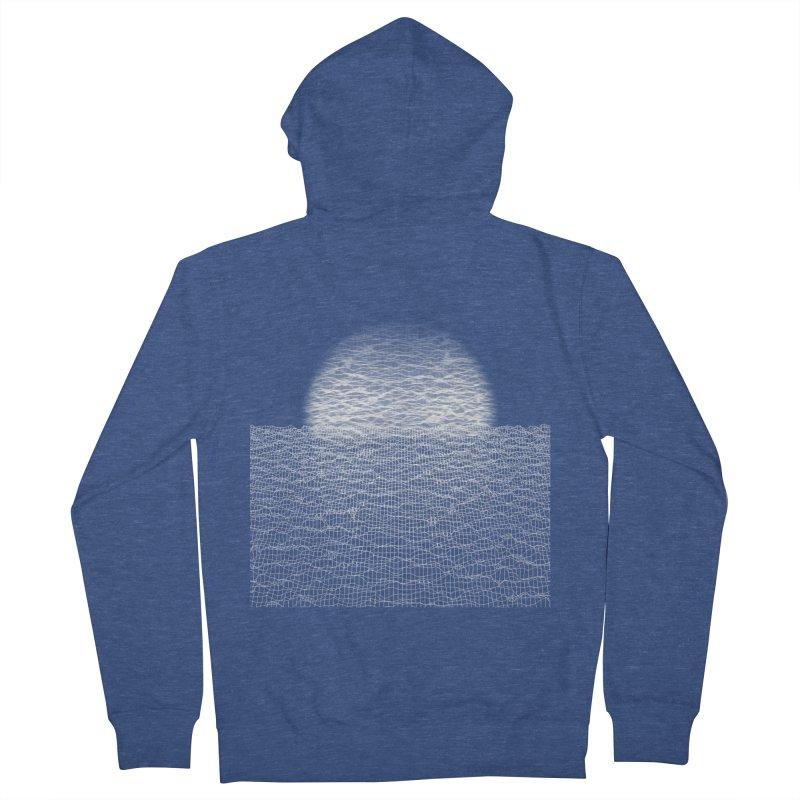 Cyber Ocean Men's Zip-Up Hoody by LEMATWORKS Shop