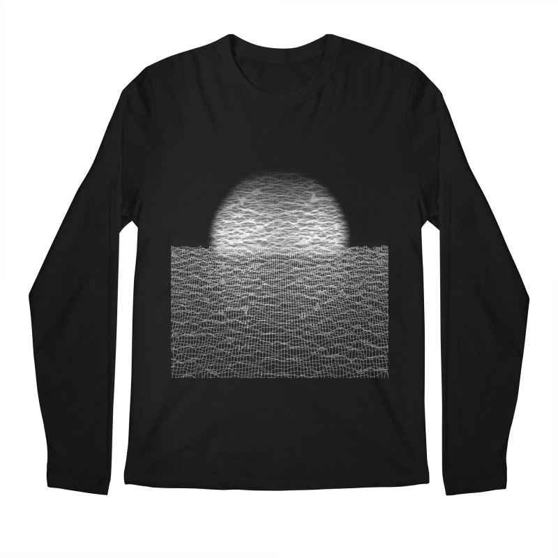 Cyber Ocean Men's Regular Longsleeve T-Shirt by LEMATWORKS Shop