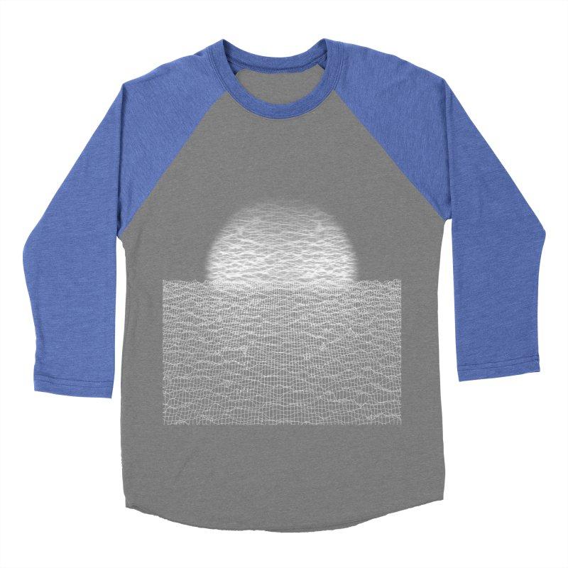 Cyber Ocean Men's Baseball Triblend Longsleeve T-Shirt by LEMATWORKS Shop
