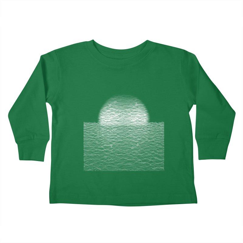 Cyber Ocean Kids Toddler Longsleeve T-Shirt by LEMATWORKS Shop