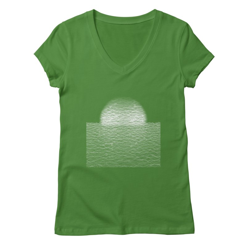 Cyber Ocean Women's V-Neck by LEMATWORKS Shop