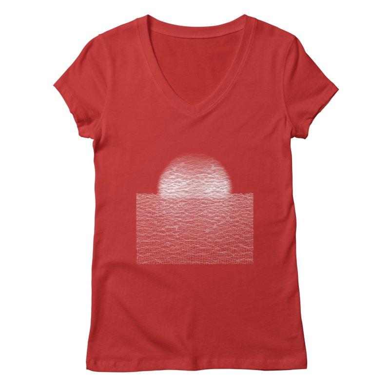 Cyber Ocean Women's Regular V-Neck by LEMATWORKS Shop