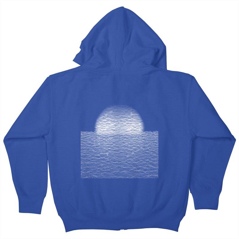 Cyber Ocean Kids Zip-Up Hoody by LEMATWORKS Shop