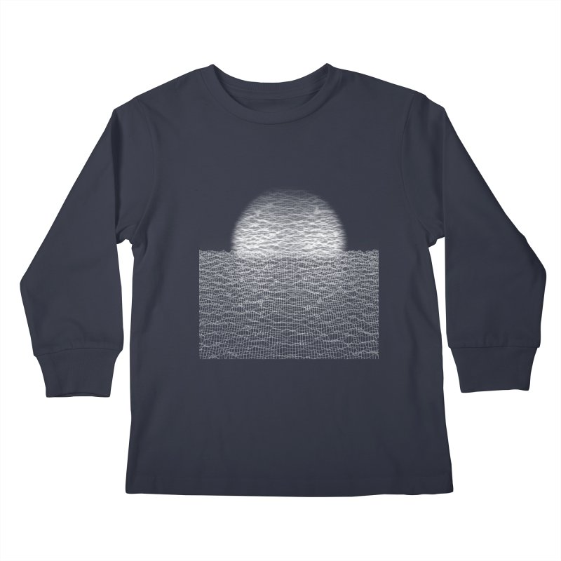 Cyber Ocean Kids Longsleeve T-Shirt by LEMATWORKS Shop