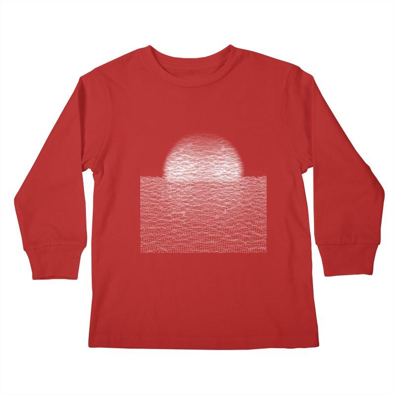 Cyber Ocean Kids Longsleeve T-Shirt by LEMATWORKS Shop