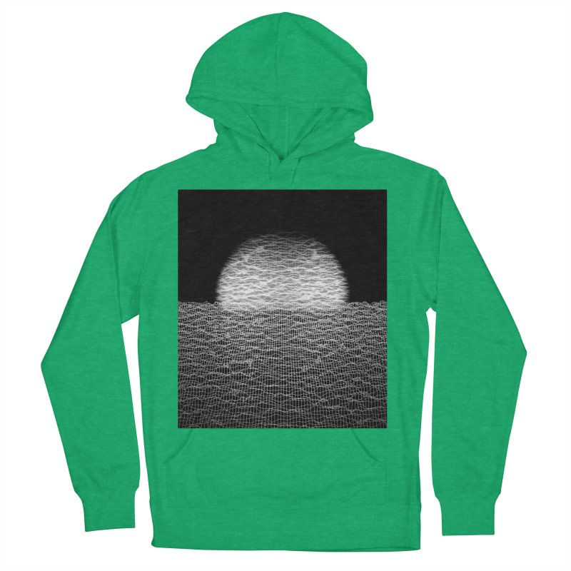 Cyber Ocean 2 -BG Black- Men's French Terry Pullover Hoody by LEMATWORKS Shop