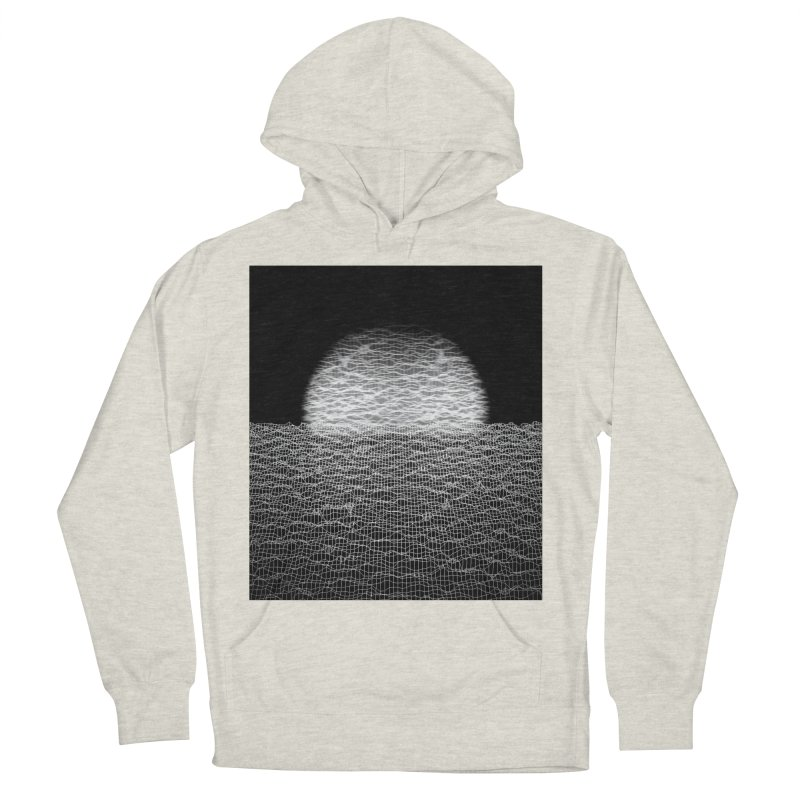 Cyber Ocean 2 -BG Black- Men's Pullover Hoody by LEMATWORKS Shop
