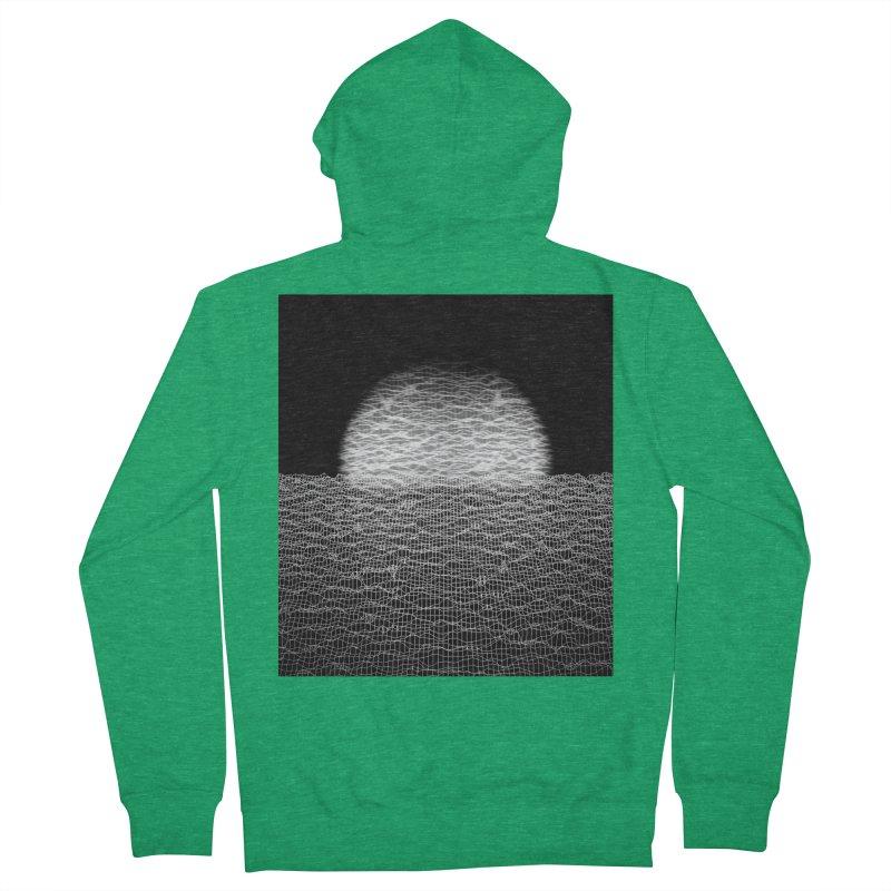 Cyber Ocean 2 -BG Black- Men's Zip-Up Hoody by LEMATWORKS Shop