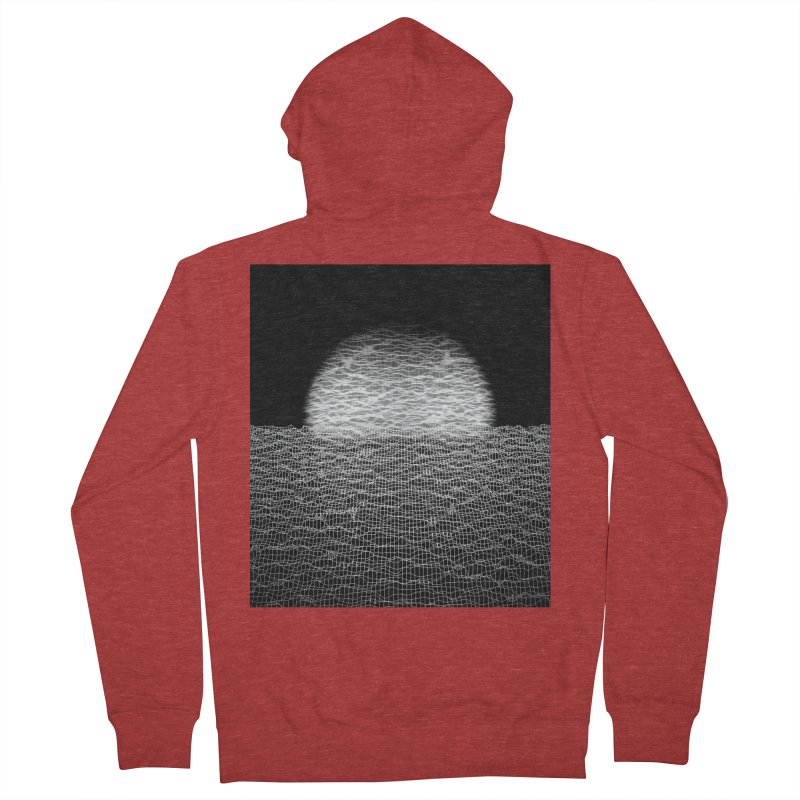 Cyber Ocean 2 -BG Black- Men's French Terry Zip-Up Hoody by LEMATWORKS Shop