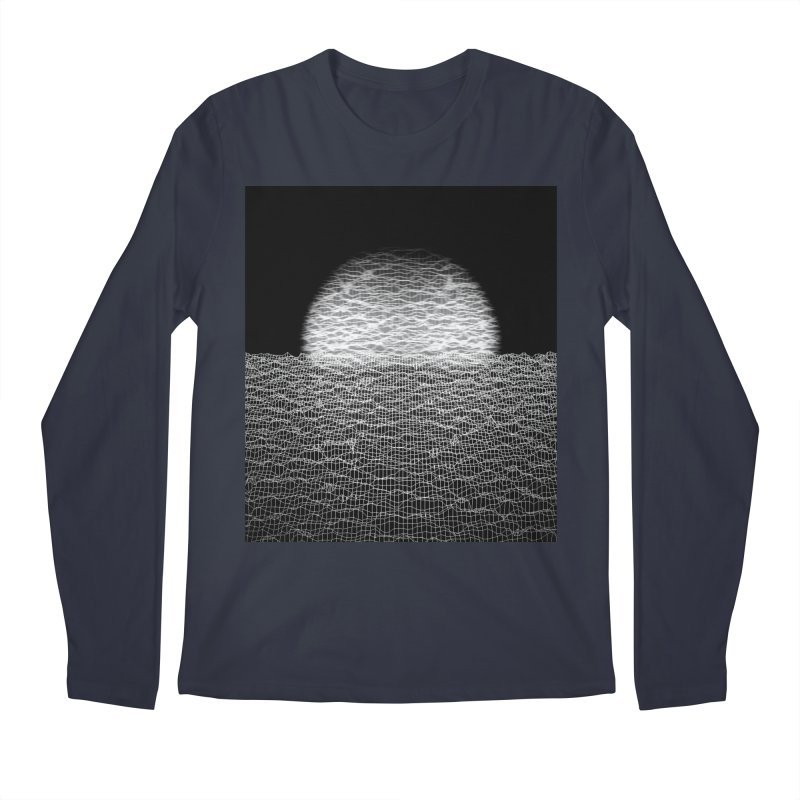 Cyber Ocean 2 -BG Black- Men's Longsleeve T-Shirt by LEMATWORKS Shop