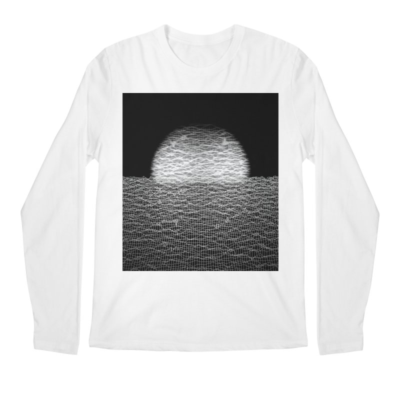 Cyber Ocean 2 -BG Black- Men's Regular Longsleeve T-Shirt by LEMATWORKS Shop