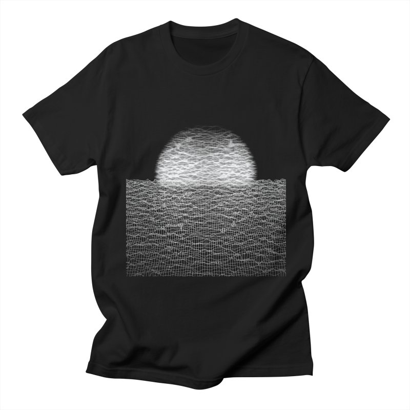Cyber Ocean 2 -BG Black- Men's Regular T-Shirt by LEMATWORKS Shop