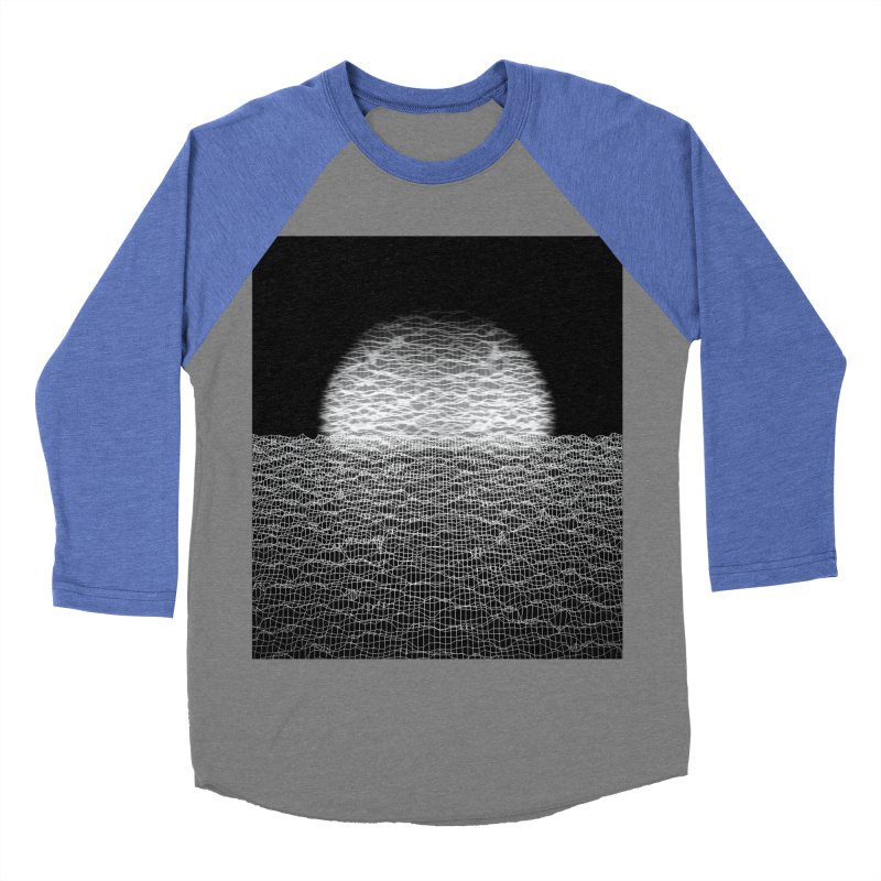 Cyber Ocean 2 -BG Black- Men's Baseball Triblend Longsleeve T-Shirt by LEMATWORKS Shop
