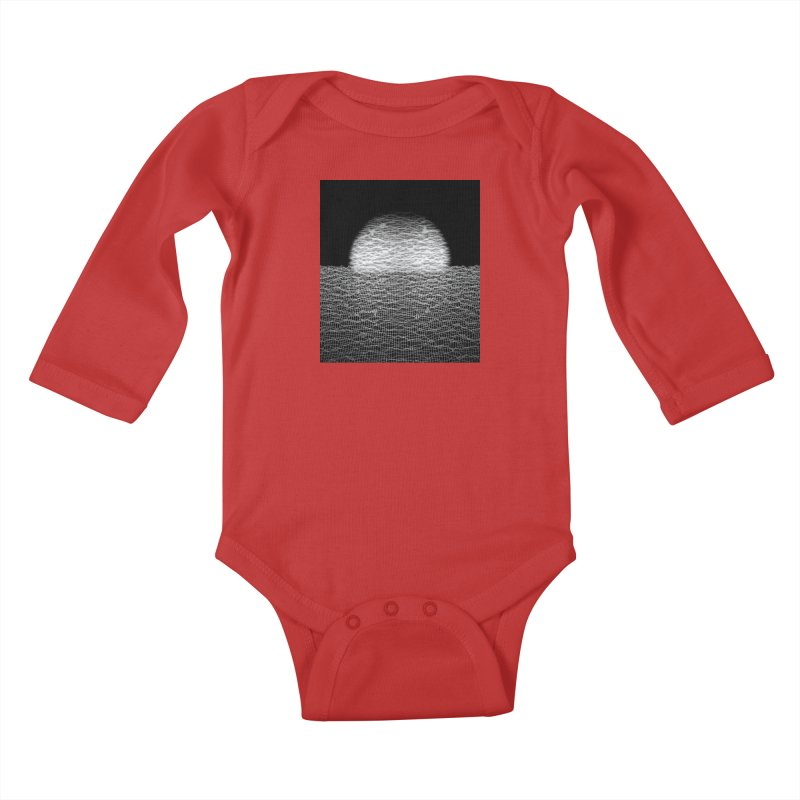 Cyber Ocean 2 -BG Black- Kids Baby Longsleeve Bodysuit by LEMATWORKS Shop