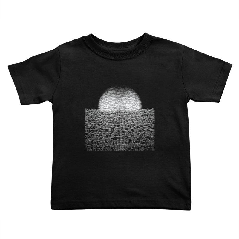 Cyber Ocean 2 -BG Black- Kids Toddler T-Shirt by LEMATWORKS Shop