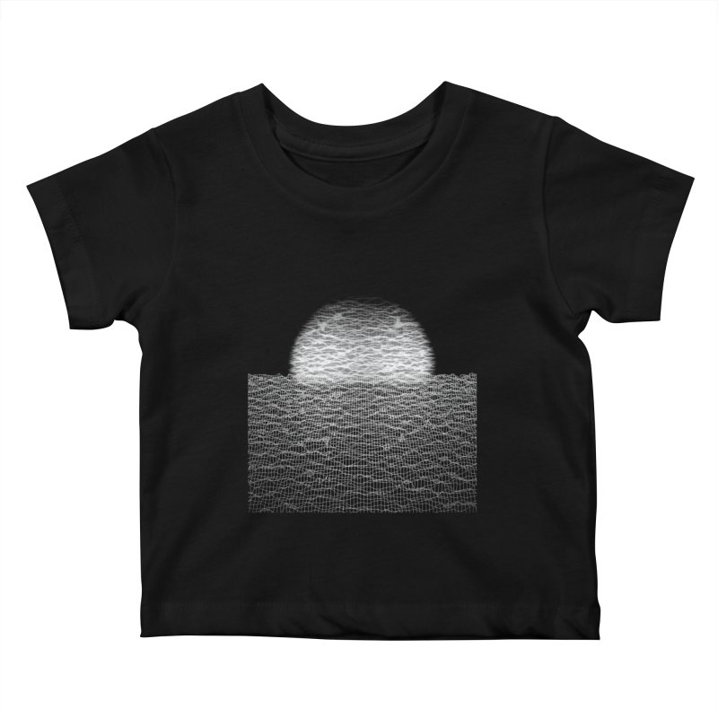 Cyber Ocean 2 -BG Black- Kids Baby T-Shirt by LEMATWORKS Shop