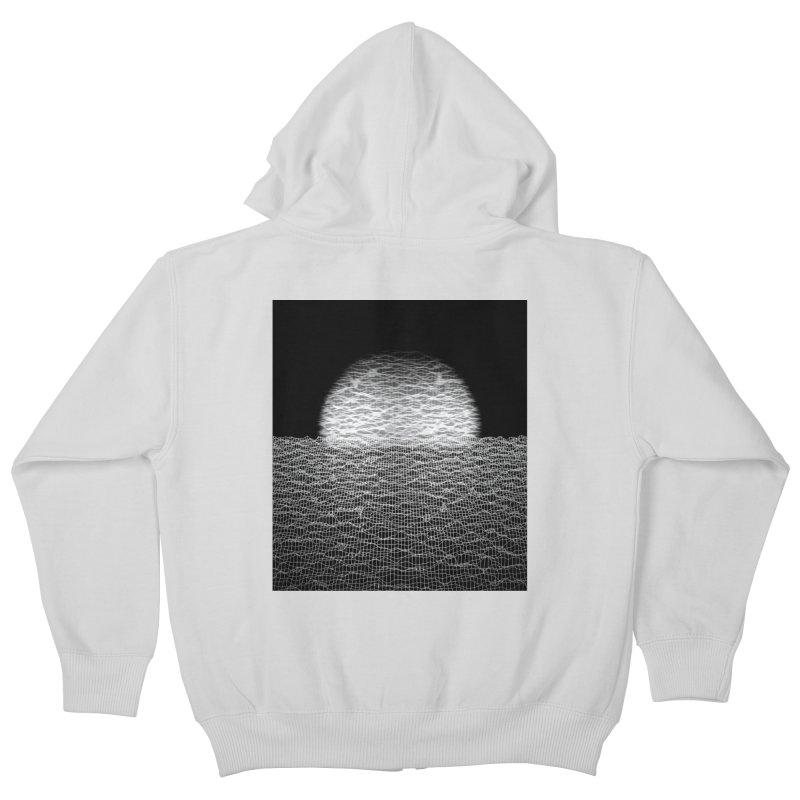 Cyber Ocean 2 -BG Black- Kids Zip-Up Hoody by LEMATWORKS Shop