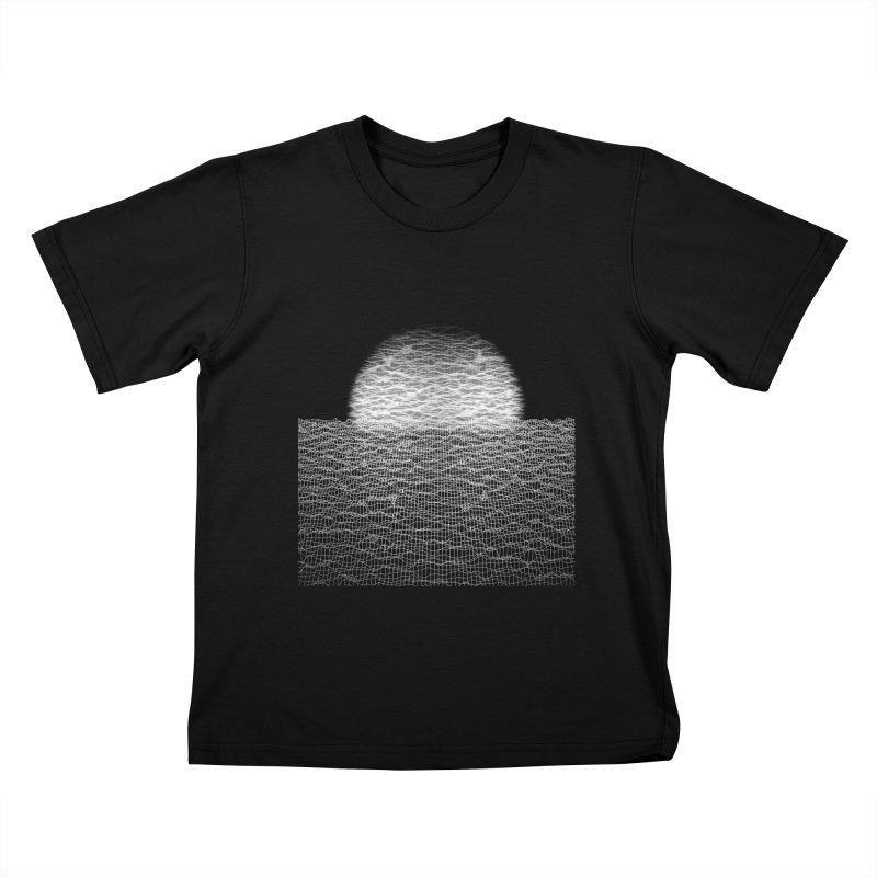 Cyber Ocean 2 -BG Black- Kids T-Shirt by LEMATWORKS Shop