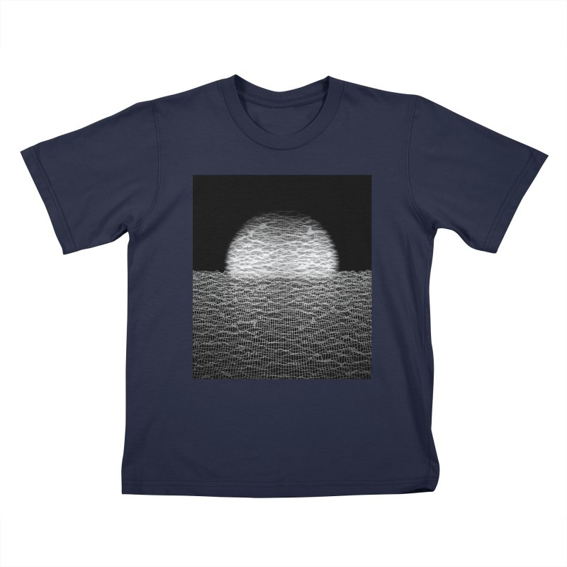 Cyber Ocean 2 -BG Black- Kids T-Shirt by LEMATWORKS Shop