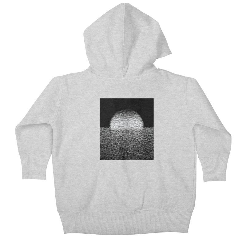 Cyber Ocean 2 -BG Black- Kids Baby Zip-Up Hoody by LEMATWORKS Shop