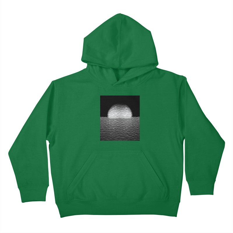 Cyber Ocean 2 -BG Black- Kids Pullover Hoody by LEMATWORKS Shop