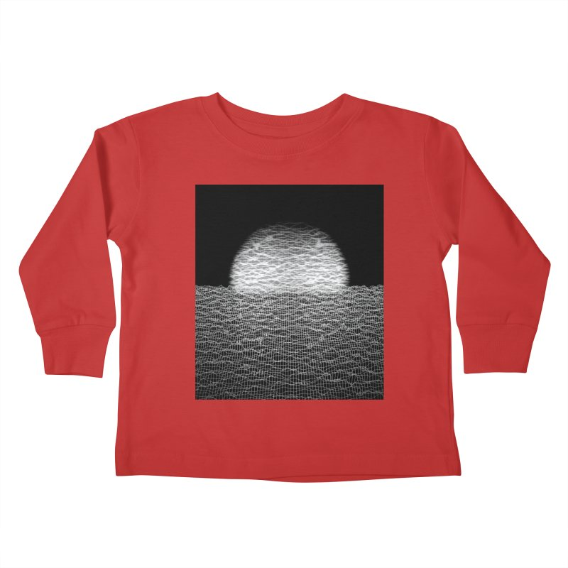 Cyber Ocean 2 -BG Black- Kids Toddler Longsleeve T-Shirt by LEMATWORKS Shop