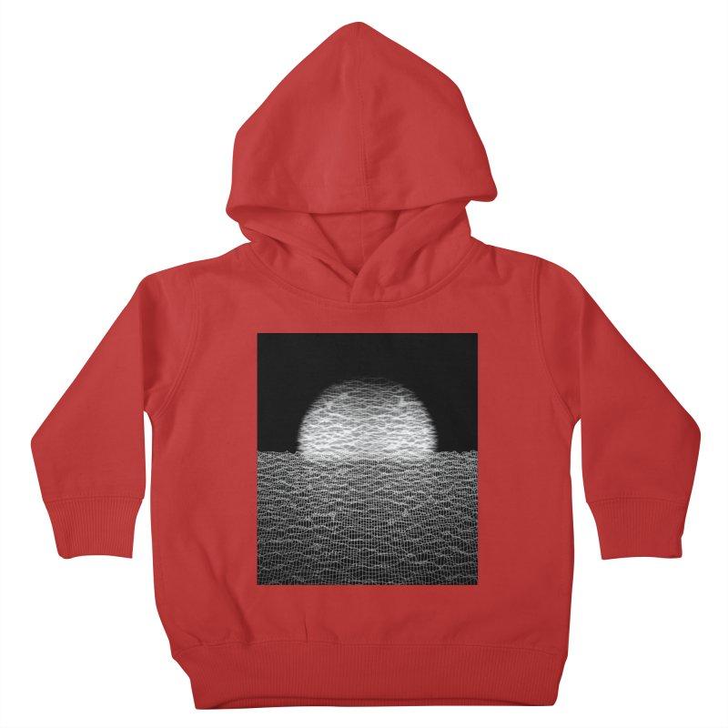 Cyber Ocean 2 -BG Black- Kids Toddler Pullover Hoody by LEMATWORKS Shop