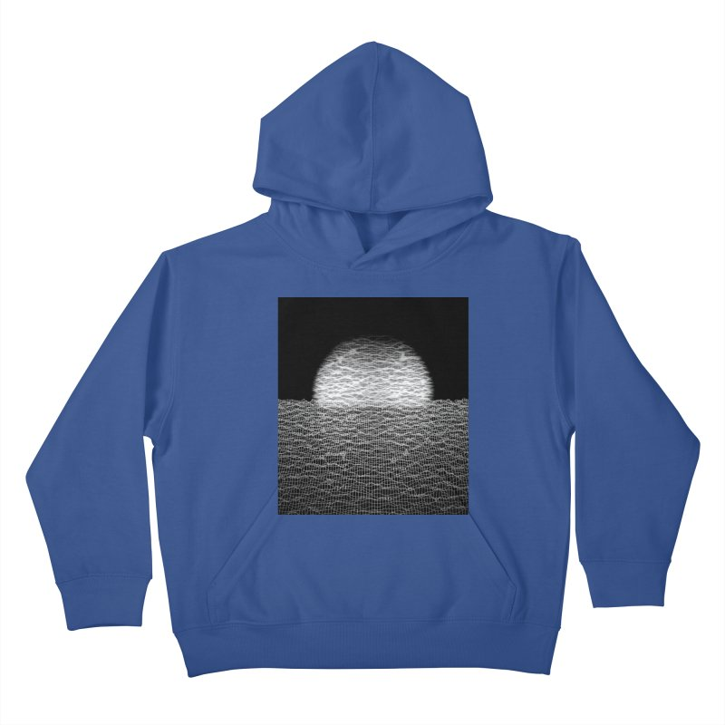 Cyber Ocean 2 -BG Black- Kids Pullover Hoody by LEMATWORKS Shop
