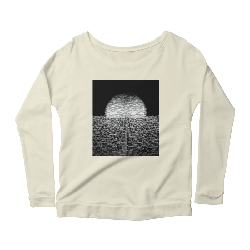 Cyber Ocean 2 -BG Black- Women's Scoop Neck Longsleeve T-Shirt by LEMATWORKS Shop
