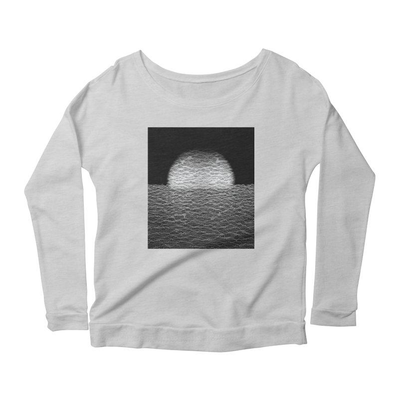 Cyber Ocean 2 -BG Black- Women's Scoop Neck Longsleeve T-Shirt by LEMATWORKS Shop