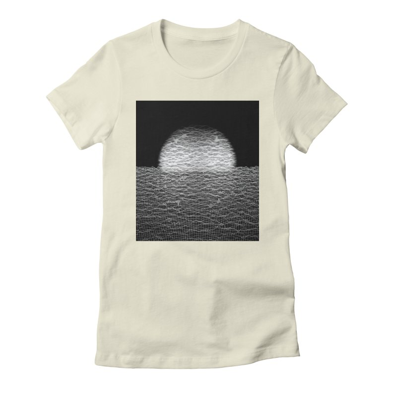 Cyber Ocean 2 -BG Black- Women's Fitted T-Shirt by LEMATWORKS Shop