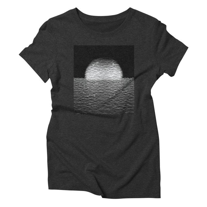 Cyber Ocean 2 -BG Black- Women's Triblend T-Shirt by LEMATWORKS Shop