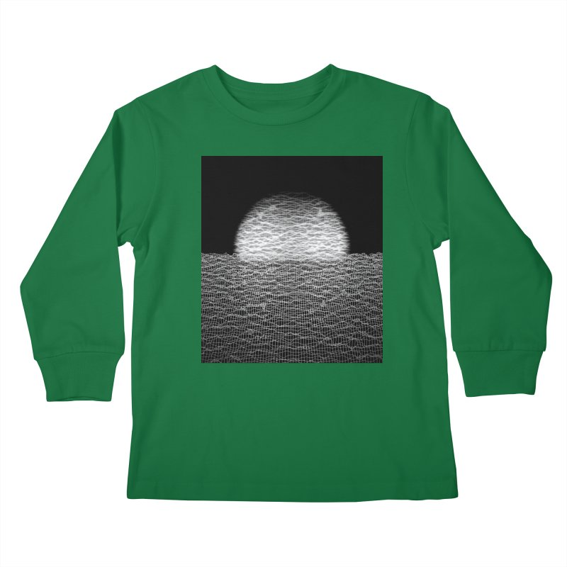 Cyber Ocean 2 -BG Black- Kids Longsleeve T-Shirt by LEMATWORKS Shop