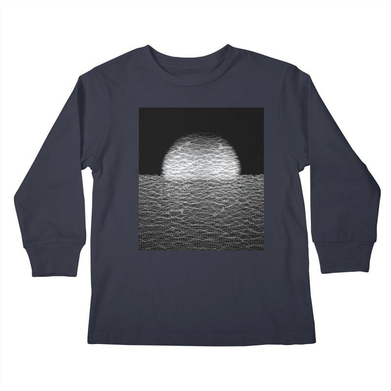 Cyber Ocean 2 -BG Black- Kids Longsleeve T-Shirt by LEMATWORKS Shop