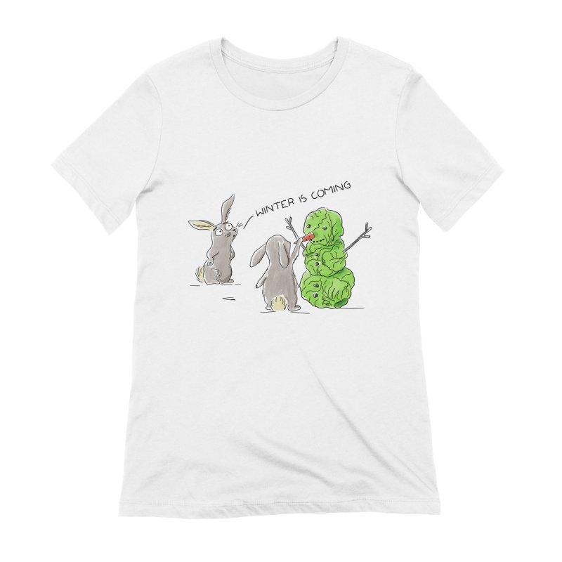 Winter Is Coming Women's T-Shirt by Dorota Wieczorek