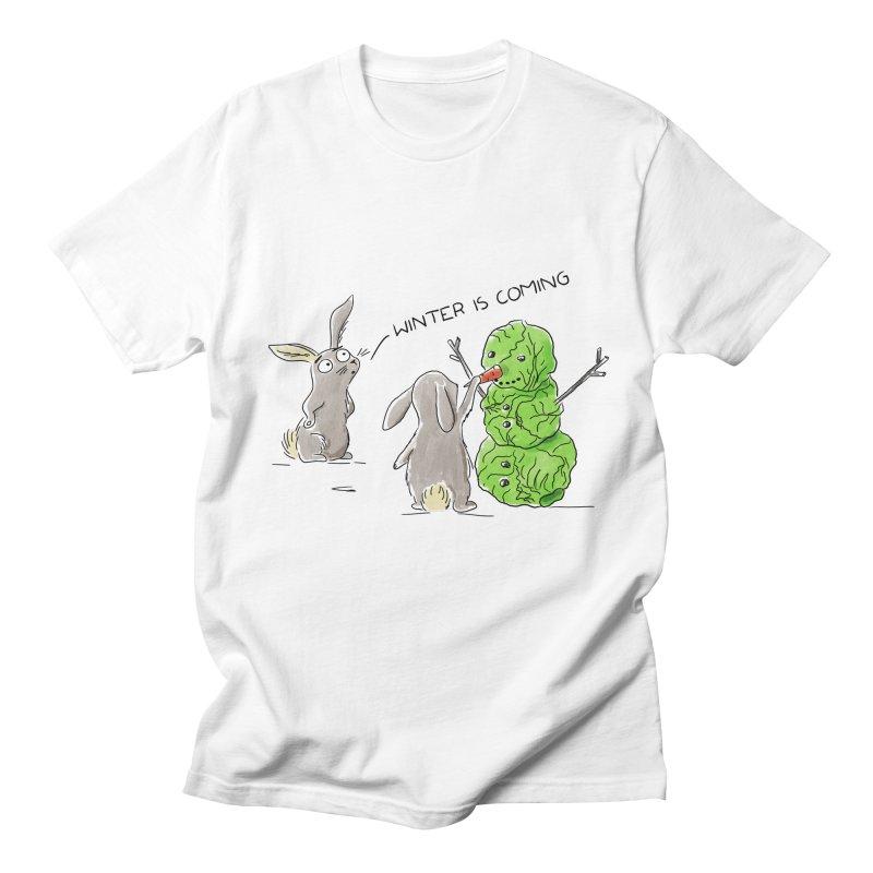 Winter Is Coming Men's T-Shirt by Dorota Wieczorek