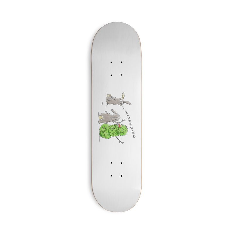Winter Is Coming Accessories Skateboard by Dorota Wieczorek