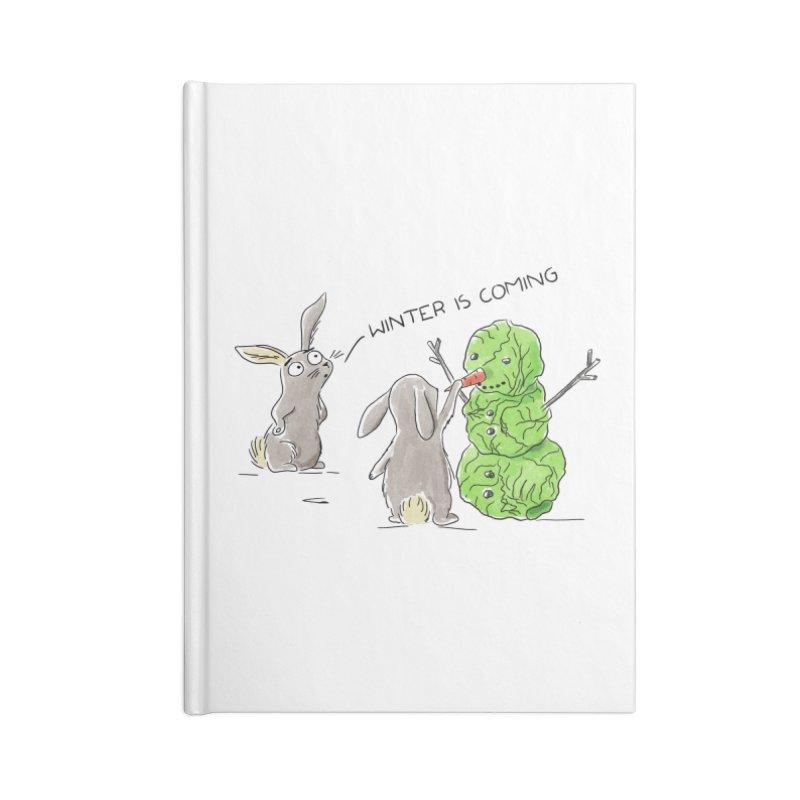 Winter Is Coming Accessories Notebook by Dorota Wieczorek